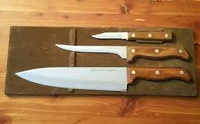 imperial kitchen knives set of 3 mighty oak by imperial kitchen knives in original holder