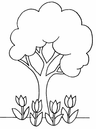 tree coloring page crafts and worksheets for preschool toddler