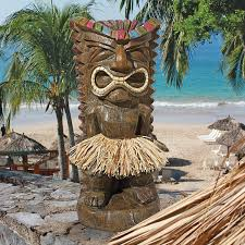 Polynesian Home Decor by Amazon Com Design Toscano Pau Hana Hawaiian Tiki Totem Statue