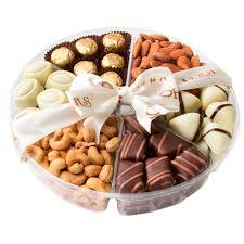 kosher gifts premium chocolate kosher gift tray 6 section nuts chocolate