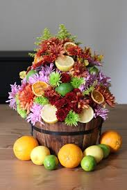 arrangement ferns and flowers fruit flower centerpiece for your