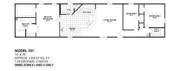 3 Bedroom 2 Bath Mobile Home Floor Plans 3 Bedroom Mobile Home Floor Plans Amazing House Plans