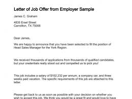 13 sample job offer letters sample letters word