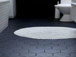 bathroom black hex tiles with white grout hexagon bathroom floor