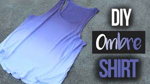 how to ombré dye a shirt youtube