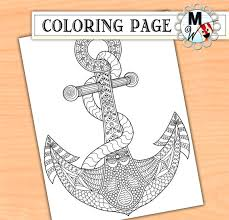 anchor coloring adults zen tangle metwhimdigital art