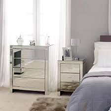 venetian mirrored bedroom furniture collection dunelm home