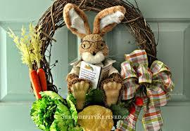 serendipity refined blog easy diy peter rabbit spring wreath door