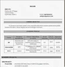 resume format of fresher engineer best 25 best resume format