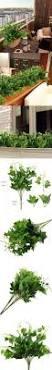 Fake Bushes Artificial Plants Hogado 2pcs Silk English Ivy Leaves Faux Shrubs