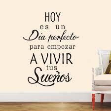 quotes en espanol del amor amazon com boodecal spanish quote wall decals hoy es un dia