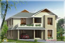 square feet bedroom double floor house sq ft sloping roof home