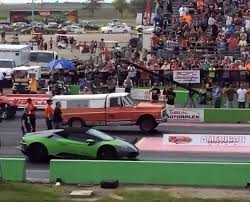 Old Ford Drag Truck - lambo huracan can u0027t believe its luck drag racing against a farm