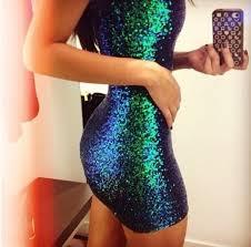 dress mermaid dress shiny party dress spandex green dress blue