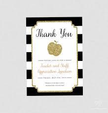 Order Invitation Cards Teacher Appreciation Invitation Apple Printable Teacher