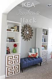 Old Ikea Bookshelves by Ikea Hackers Fake Old Library Used 2 Billy 2 Benno 2 Lack Shelves