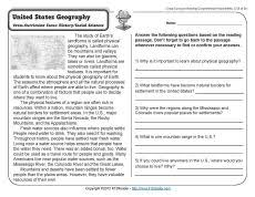 reading comprehension worksheets 4th grade common core