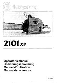 husqvarna 2101xp chainsaw owners manual