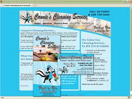 connie u0027s cleaning service web design and graphic design