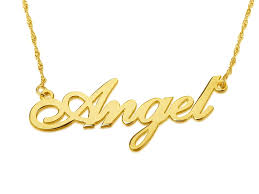 gold name necklace 14k gold carrie name necklace
