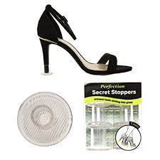perfection secret stoppers ladies u0027 clear heel protectors for