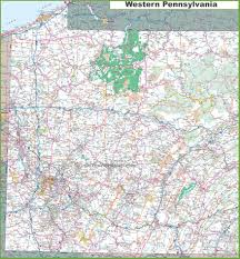 Pennsylvania Counties Map by Map Of Western Pennsylvania