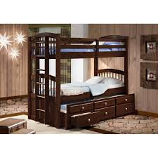 Donco Bunk Beds Cappuccino Captains Trundle Bunk Bed