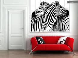 Chic Design Ideas Using Rectngular Brown Wooden Vent Hood And - Animal print decorations for living room
