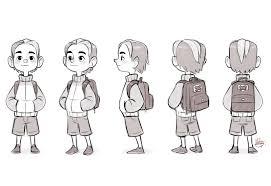 cool kid turn around sketch by luigil on deviantart