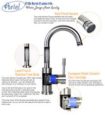 Traditional Kitchen Faucet by Ariel Imperial Design Lead Free Stainless Steel Single Hole Pull