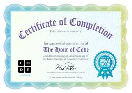 certificate of completion templates free download