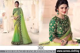golden blouse beautiful pista golden silk saree with embroidery work blouse