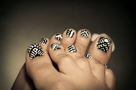 and white black toenail designs another heaven nails design 2016