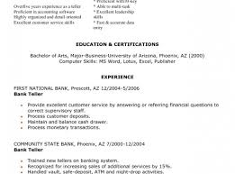 resume awesome bank resume cover letter sample online