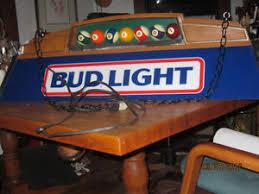 bud light pool table light vtg 1987 budweiser bud light beer poker pool table light bar pub