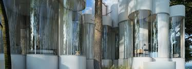 cylinder house nestles between the forests near lyon