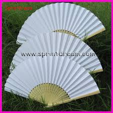 white paper fans 50pcs lot free shipping white paper fan wedding fan fan