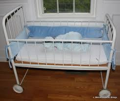 mommy u0027s apron strings antique white infant crib u0026 baby quilt