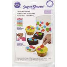 Edible Cake Decorating Paper Dazzling Dots Pre Cut Sugar Sheets Edible Decorating Paper Wilton