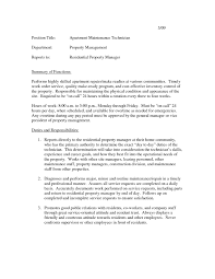 maintenance technician resume resume cover letter example