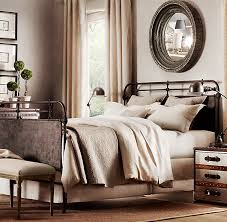 French Industrial Bedroom French Académie Iron Bed Metal Beds Restoration Hardware