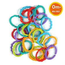 baby plastic rings images Bright starts lots of links baby plastic rings teether accessory jpg