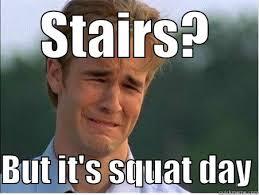 Squat Meme - squat day quickmeme