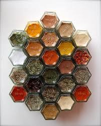 Spice Rack Empty Jars Amazon Com Diy Hex 24 Gold Magnetic Spice Rack Includes 24