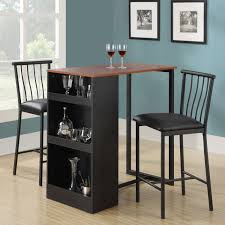 3 piece dining room set 3 piece counter height table set amazoncom roundhill furniture