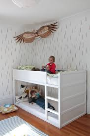 Double Deck Bed Designs With Drawer Diy The Stenciled Kid U0027s Room Boreal Forest Edition Stenciling