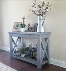 Unique Entryway Tables Modified Whites Rustic X Console Table And Used Minwax