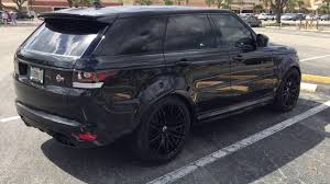 range rover svr black range rover sport svr got new tires and wheels youtube