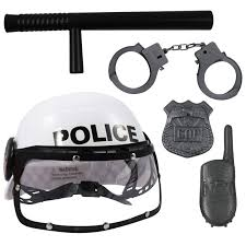 kidfun police pretend play dress up toy set with helmet