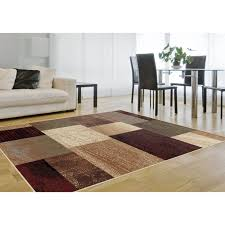 flooring family room decor with square checked lowes rugs on